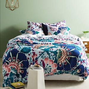 NEW! ANTHROPOLOGIE Liberty Embroidered KING DUVET